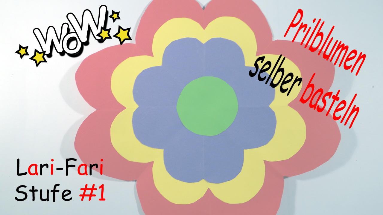 Prilblumen selber basteln - DIY - Papierblumen für die Hippie Party » Lari-Fari.deLari-Fari.de