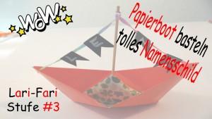 Papierboot falten & selber machen – DIY – Boot aus Papier als Namensschild